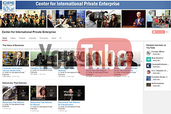 CIPE's YouTube page