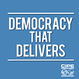 Democracy That Delivers podcast logo