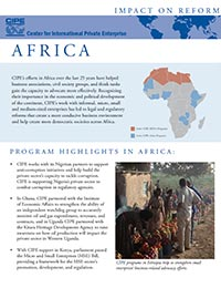 Flyer - Impact on Reform: Africa