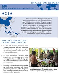 Flyer - Impact on Reform: Asia