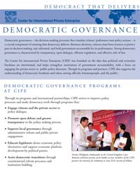 CIPE Flyer: Democratic Governance