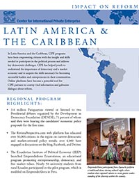 Flyer - Impact on Reform: Latin America & the Caribbean