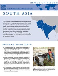 Flyer - Impact on Reform: South Asia