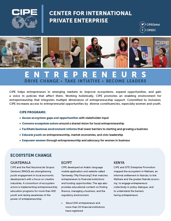 Entrepreneurship at CIPE - Center for International Private