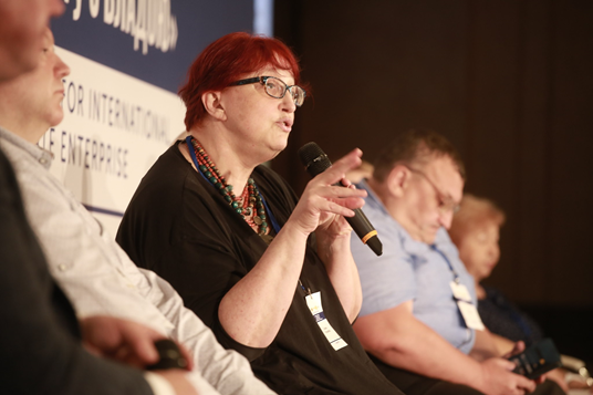 Tetyana Tretyakova, MP, participates at the panel discussion